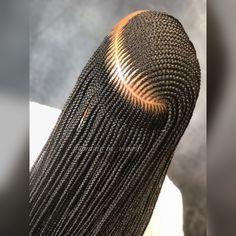 Side Part layered braids, long and neat braids