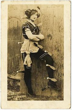Knife thrower's assistant, anonymous - date unknown