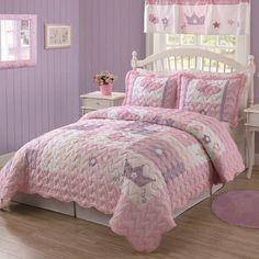 Princess Quilt with Pillow Sham