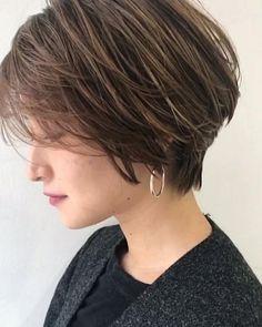 ショート Short Hairstyles For Women, Summer Hairstyles, Pretty Hairstyles, Braided Hairstyles, Short Brown Hair, Short Hair Cuts, Medium Hair Styles, Short Hair Styles, Medium Length Blonde