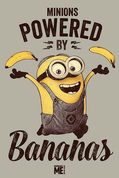 Já, padouch - Powered by Bananas - Plakát, Obraz na Posters.cz