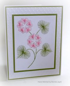 My hydrangeas are about to bloom in the garden so I thought this would be a good card for today. (Inside the card)