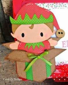 Christmas Scrapbook, Christmas Gift Wrapping, Christmas Crafts, Xmas, Felt Crafts, Paper Crafts, Punch Art, Saving Ideas, Craft Fairs