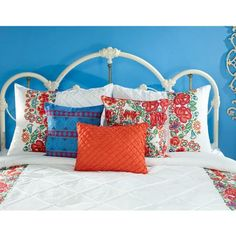 Give your bedroom a fresh update for Spring with the Jalisco 7-Piece Comforter Set from our NEW collection. $64.97 at http://www.walmart.com/ip/Casa-Mia-Jalisco-7-Piece-Bedding-Comforter-Set/43836381