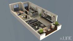 Renderig Floor Plan 02 | x.LINE 3D Visualization