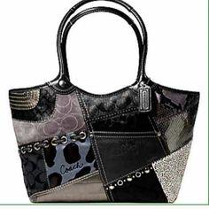 Authentic Coach Patchwork bag Black purse new...clean Accessories
