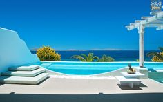 Gazing at the marvelous blue of the Cyclades, from your privileged place in Mykonos! More at saintjohn. Mykonos Hotels, Executive Suites, Restaurant Photos, Dream Pools, Wellness Spa, Travel Bugs, Private Pool, View Photos, Greece