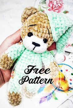 Free Amigurumi Teddy Bear Pattern for Kids! Free Amigurumi Teddy Bear Pattern for Kids! amigurumi for beginners; Amigurumi Free, Crochet Patterns Amigurumi, Crochet Dolls, Crochet Teddy Bear Pattern, Knitted Teddy Bear, Crochet For Kids, Free Crochet, Scrap Quilt, Teddy Bear Clothes