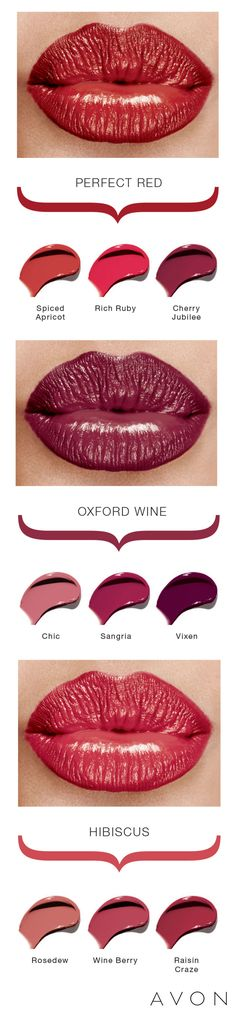Reinvent your red lip with new takes on old favorites. This go-to guide shows you some new shades to help you decide.