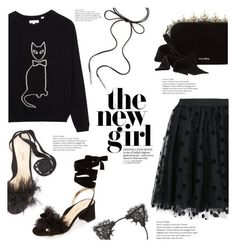 """""""Black Kat"""" by lisalockhart ❤ liked on Polyvore featuring P.A.R.O.S.H., Babette, True Craft, Marion Parke, Miu Miu, Kendra Scott and allblack"""