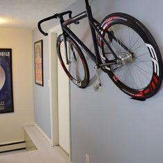 The Dan pedal hook is a horizontal bike storage system. Bike wall mount for all bikes.