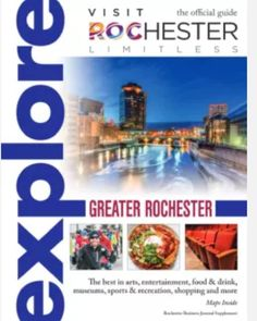 The 2017Explore Greater Rochester Guide the official visitors guide to Greater Rochester and Monroe County is now available.  http://www.visitrochester.com/newsroom/press-releases/post/2017-visit-rochester-explore-guide-is-here/  Monday April 17 2017 4:00 PM byRachel Laber  TheExplorepublication is a partnership between Visit Rochester and theRochester Business Journal.  The 2017 edition ofExplore Greater Rochesterhighlights the best of local events entertainment the arts food and drink…