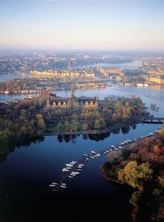 """Stockholm, Sweden The """"City That Floats On Water"""" is built on 14 islands, where Lake Mälaren flows into the Baltic Sea. By ship, Stockholm is approached through an archipelago of 30,000 islands and skerries, fishing villages, thousands of sailing boats and quaint red summer cottages."""