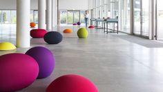 Contemporary pouf / polyurethane / professional use TATO by Denis Santachiara & Enrico Baleri DPC