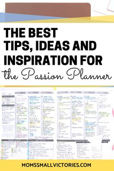 How to Bullet Journal in the Passion Planner: the Perfect Planning Solution. The Passion Planner has minimal design and useful layouts to achieve your goals Time Planner, Passion Planner, Planner Tips, Happy Planner, Study Planner, Printable Planner, Planner Stickers, Color Coding Planner, How To Bullet Journal