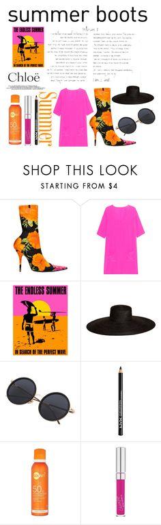 """Sum boots #112"" by i-sunshine ❤ liked on Polyvore featuring Balenciaga, Jadicted, Samuji, NYX and Chloé"