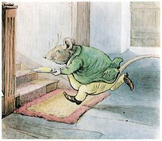 """From """"The Tale of Samuel Whiskers"""" or """"The Roly Poly Pudding"""" by Beatrix Potter - """"Oh! Mother, Mother, there has been an old man rat in the dairy—a dreadful 'normous big rat, mother; and he's stolen a pat of butter and the rolling-pin."""""""