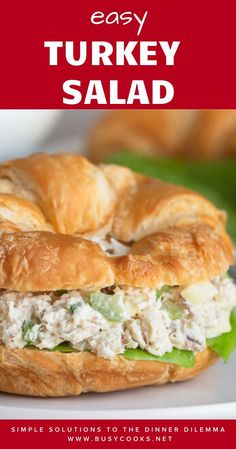 This incredibly delicious leftover turkey salad is quick n' easy, yet loaded with flavor and texture. This customizable turkey salad won't disappoint! Easy Leftover Turkey Recipes, Leftover Turkey Casserole, Leftovers Recipes, Turkey Leftovers, Pumpkin Recipes, Dinner Recipes, Turkey Salad Sandwich, Turkey Sandwiches, Baked Turkey