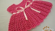 puntos a crochet para vestidos de bebe - YouTube