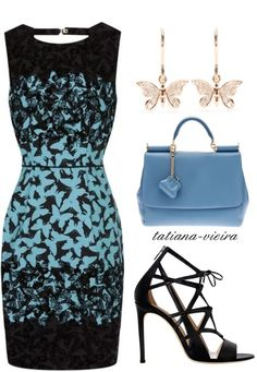 A fashion look from March 2013 featuring Alejandro Ingelmo sandals, Dolce&Gabbana handbags and Cada earrings. Browse and shop related looks. Work Fashion, Fashion Outfits, Womens Fashion, Fashion Trends, Classy Outfits, Beautiful Outfits, Complete Outfits, Work Attire, Passion For Fashion