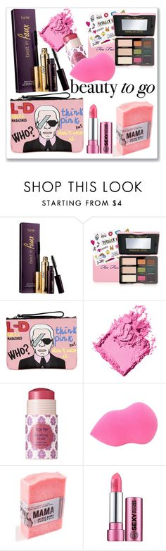 """""""Beauty on the Go"""" by ludmyla-stoyan ❤ liked on Polyvore featuring beauty, tarte, Too Faced Cosmetics, Leo Studio Design, Bobbi Brown Cosmetics, Soap & Glory, Pink, Beauty and travelbeauty"""