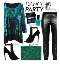 """""""Dance Party! (plus size fashion)"""" by beebeely-look ❤ liked on Polyvore featuring Elena Mirò, Judith Leiber, Illamasqua, Lauren B. Beauty, NewYears, plussize, danceparty, plussizefashion and twinkledeals"""