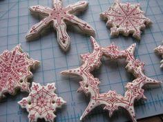 salt dough ornament snowflakes