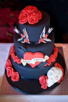 Rockabilly Cake, I want to do something like this but with just buttercream