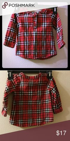 Size18 months, checked button down shirt Stylish jumping beans Shirts & Tops Button Down Shirts