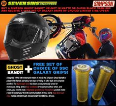 Apparently you also get a FREE SSC House Gasser Tee and a set of Galaxy Grips with all Simpson flat or gloss black Ghost Bandit Helmet purchases! Valid through April 15th 2017 #simpson #simpsonraceproducts #simpsonhelmets #simpsonhelmet #sportster #motorcyclehelmet #harleydavidson #racehelmet #streethelmet #motohelmet #motorcyclegear #motogear #motorhead #headprotection #style #sexy #sevensinschoppers