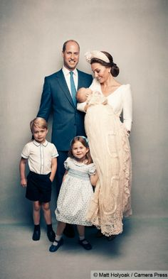 Prince Louis with royal family at Christening