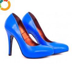 Pantofi verzi eleganti de dama Decupaje in forma de lacrima pe laterale Insertii auri Spring Summer 2018, Samba, Stiletto Heels, Shoe Trend, Ivory, Vogue, Casual, Indigo, Shoes