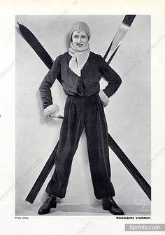 Madeleine Vionnet 1933 Ski Wear, Photo Madame D'Ora (Philippine Dora Kallmus)
