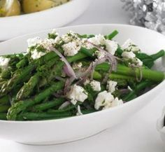 Asparagus, bean and feta salad | Australian Healthy Food Guide
