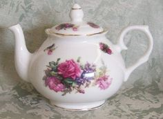 English Teapot Tea Pot from England Sando Pink 6 Cup