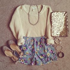 Sparkles and floral