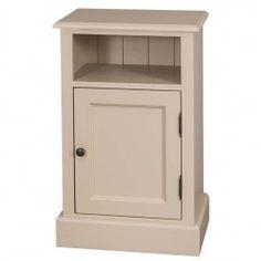 Table chevet 1 porte 1 niche en bois massif ''Kent''