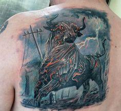 Значение татуировки бык