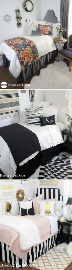 Design your dream dorm room and be the hit of the hall! Select your extended-length dorm bed skirt, dorm headboard, decorative pillows for your dorm bed, twin XL bedding, dorm bed scarf, custom dorm room wall art and monograms, and so much more! Our custom dorm bedding features the industries hottest dorm bedding trends. Shop farmhouse dorm bedding, floral dorm bedding, neutral dorm bedding, bright and colorful dorm bedding, Lilly dorm bedding, and more!