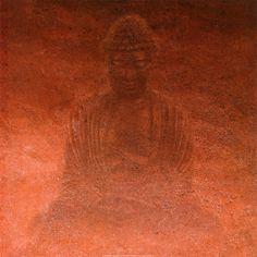 Painting of Buddha - red.