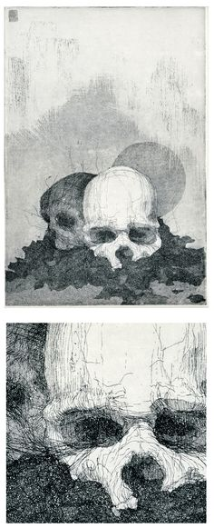 Etchings for Poe by Simon Prades, via Behance