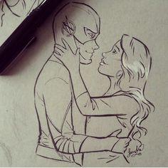 Barry and Iris West Allen / The Flash @WithLoveReesie