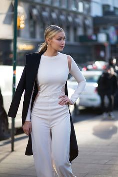 Gigi Hadid in Monique Lhuillier