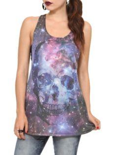Galaxy Skull Girls Tank Top