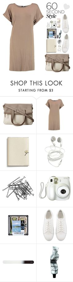 """""""Gone in 60 seconds"""" by aster-rubidus ❤ liked on Polyvore featuring FOSSIL, Boohoo, Coach, H&M, Branca, Aesop, tshirtdresses and 60secondstyle"""