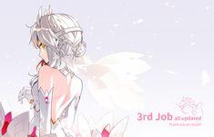 dress elsword eve_(elsword) gloves gradient hwansang no_bra photoshop short_hair white_hair yellow_e. Character Concept, Character Art, Elsword Eve, Otaku, Fan Anime, Funny Art, Anime Art Girl, Fire Emblem, Yandere