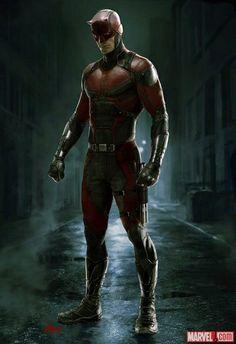 DEMOLIDOR Marvel divulga concept art do uniforme do Demolidor utilizado na série.