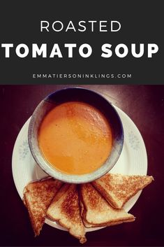 If you have never made tomato soup from scratch before then you are missing out! It uses simple ingredients and common kitchen tools. Tomato soup at its core is #vegetarian and #vegan. Like any soup, it can be easily customized to your lifestyle. Do you like chicken base? Add some. Want some creaminess? Put some cream in it! Tomato soup should feel like home. So put your heart in it. #soup #nostalgia #kidfood #homemade #fromscratch #roasted