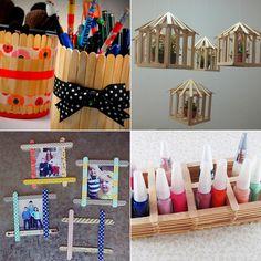 DIY: decoração com palitos de picolé - Casinha Arrumada