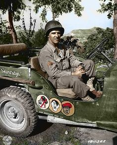 GI in a Jeep at Italy.